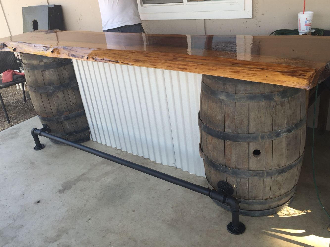 Bryan made this bar for our back patio but it can also be used in ...