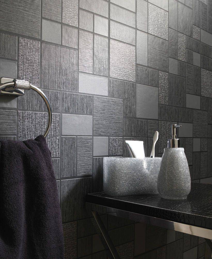 Wallpaper Rolls Sheets Diy Materials, Vinyl Bathroom Wallpaper