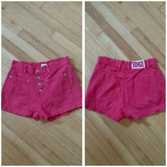 Red bongo shorts sz nine Red denim bongo shorts sz nine BONGO Shorts
