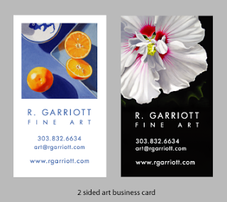 Fine artist business cards arts arts r garriott fine art basic marketing tools the business fine artist business card colourmoves