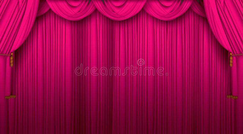 big velvet stage curtains background