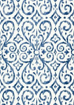 Ikat Wallpaper Royal Blue