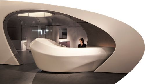 rocalondon3 Reception desks Zaha hadid and Futuristic furniture