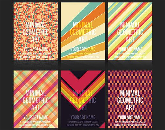 Flyer Templates Geometric  Flyers Catalogues