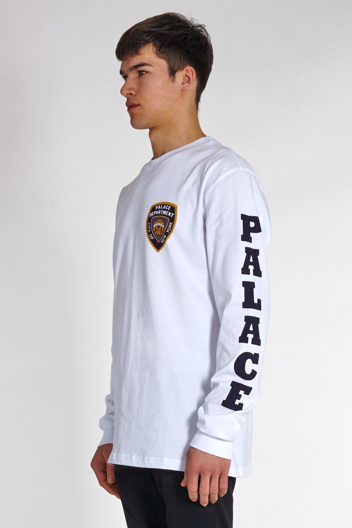 Palace Skateboards Department Long Sleeve T-Shirt White  £37