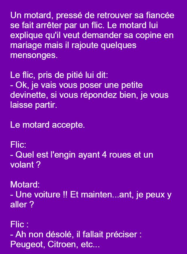 Pingl par ez lia sur haha pinterest histoires dr les - Image drole de motard ...