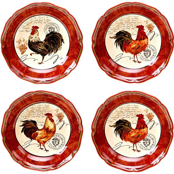 Certified International Tuscan Rooster 8.75-inch Soup/ Cereal Bowls ($31) ❤ liked  sc 1 st  Pinterest & Certified International Tuscan Rooster 8.75-inch Soup/ Cereal Bowls ...
