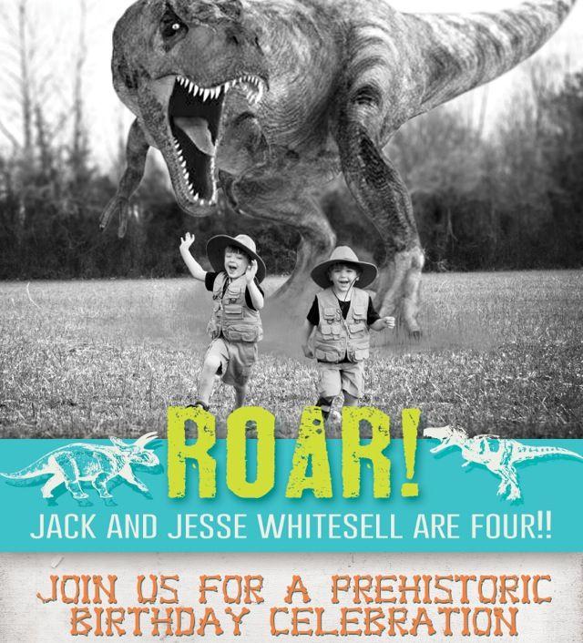 Dinosaur Birthday Invitation Dinosaur Party Pinterest Dinosaur