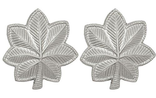Army Metal Pin On Enlisted Rank NON-SUBDUED SHINY U.S - 1 PAIR