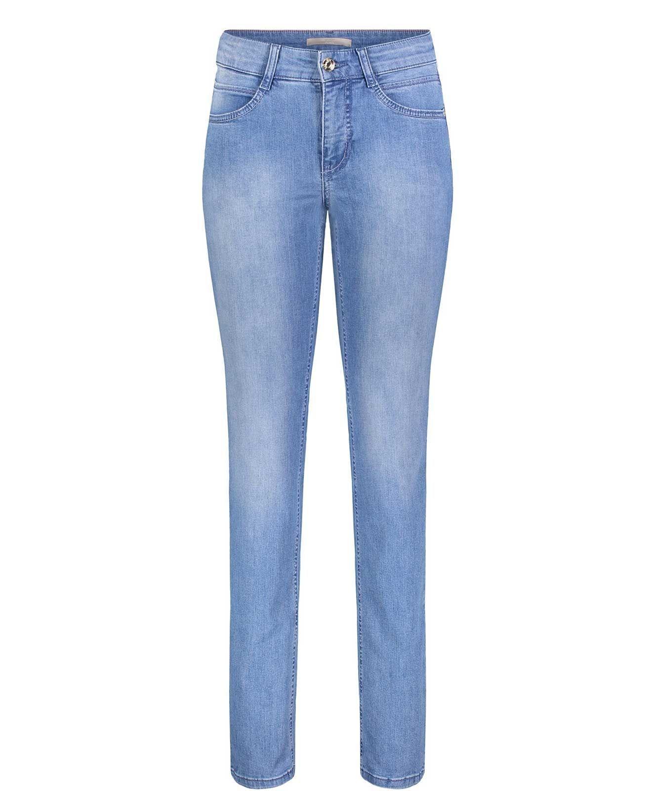 Mac 78 Jeans Melanie in Light Blue mit Schlitz am Saum