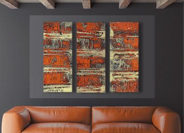 Captivating The Dam Is An Orange Abstract Canvas Wall Art Print By Contemporary Artist  Sam Freek. Contemporary Abstract Canvas Art For The Modern Home.