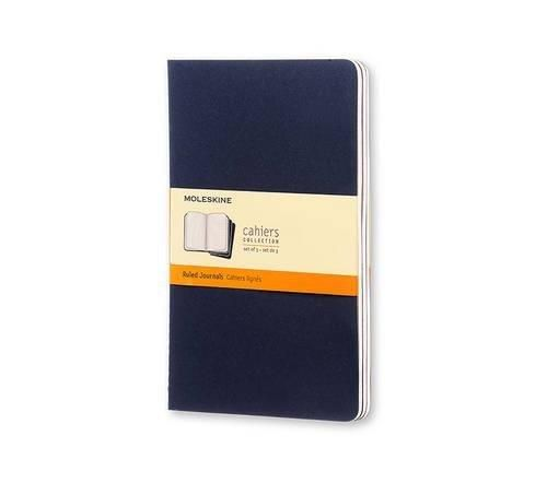 NEW Set of 3 Cahier Large Ruled Journals, Blue Cover (Moleskine Srl)
