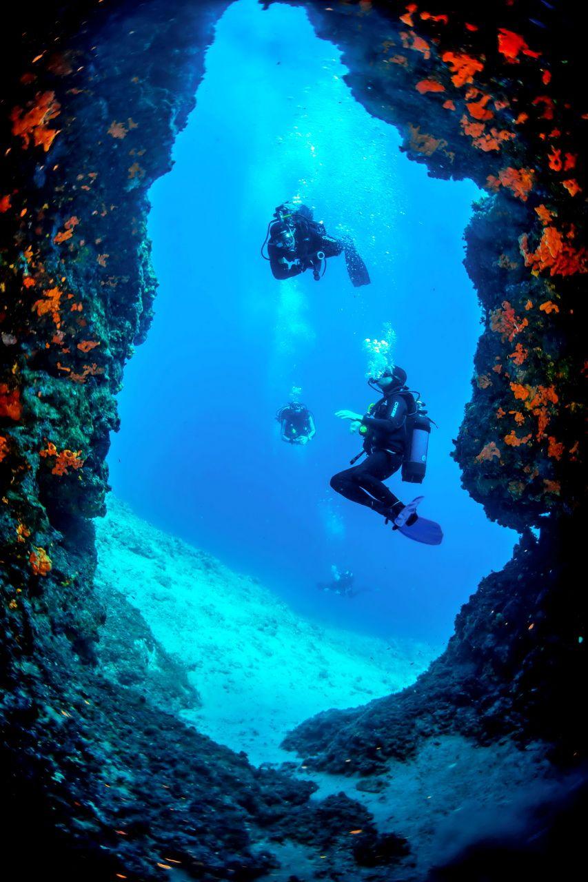 Cave Scuba Diving In Skopelos Island Is So Popular. Plenty