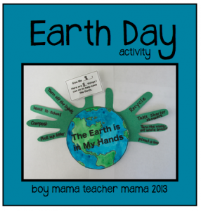 The earth is in my hands  an Earth Day activity  Earth Day