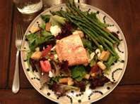Bonefish Grill Copycat Recipes: Grilled Salmon and Asparagus Salad