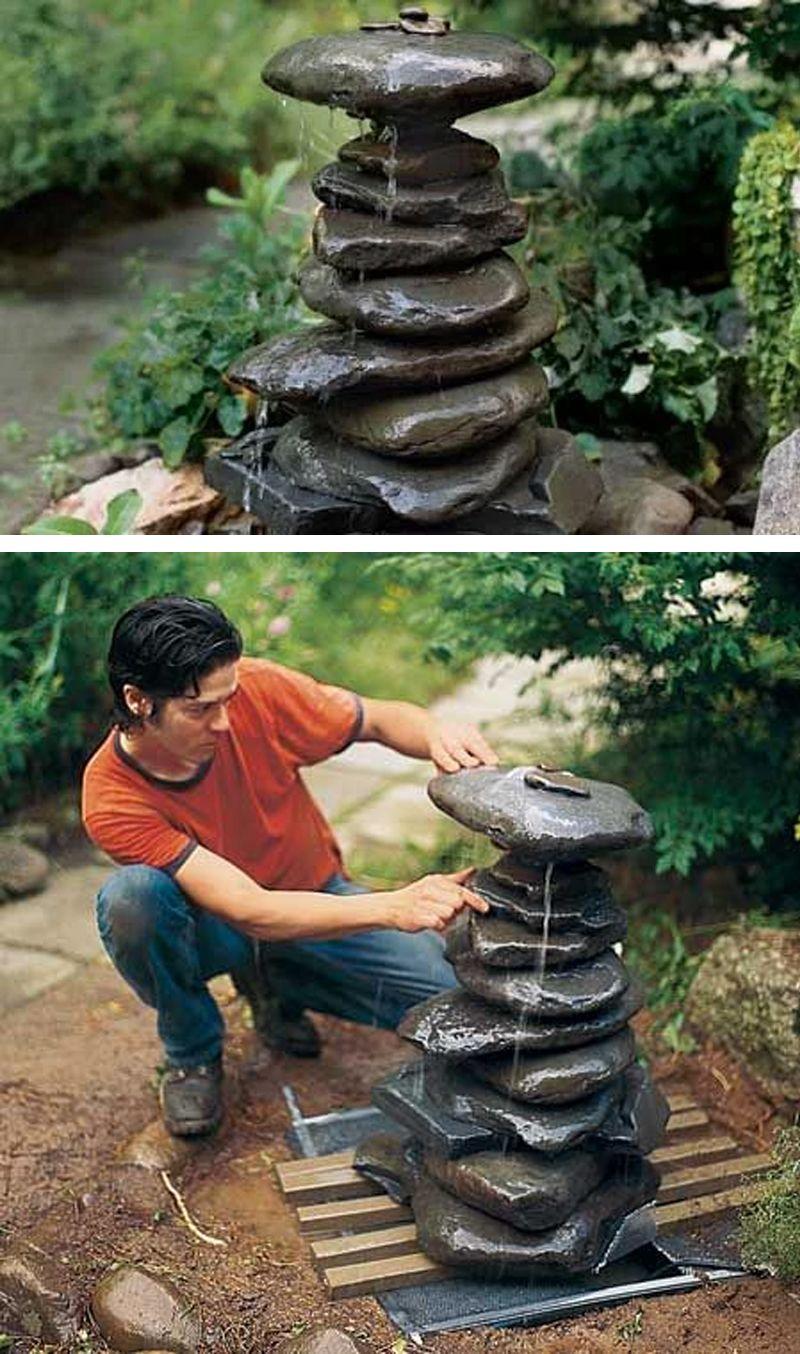 Fontaine de jardin DIY: 15 idées pour un extérieur original ...