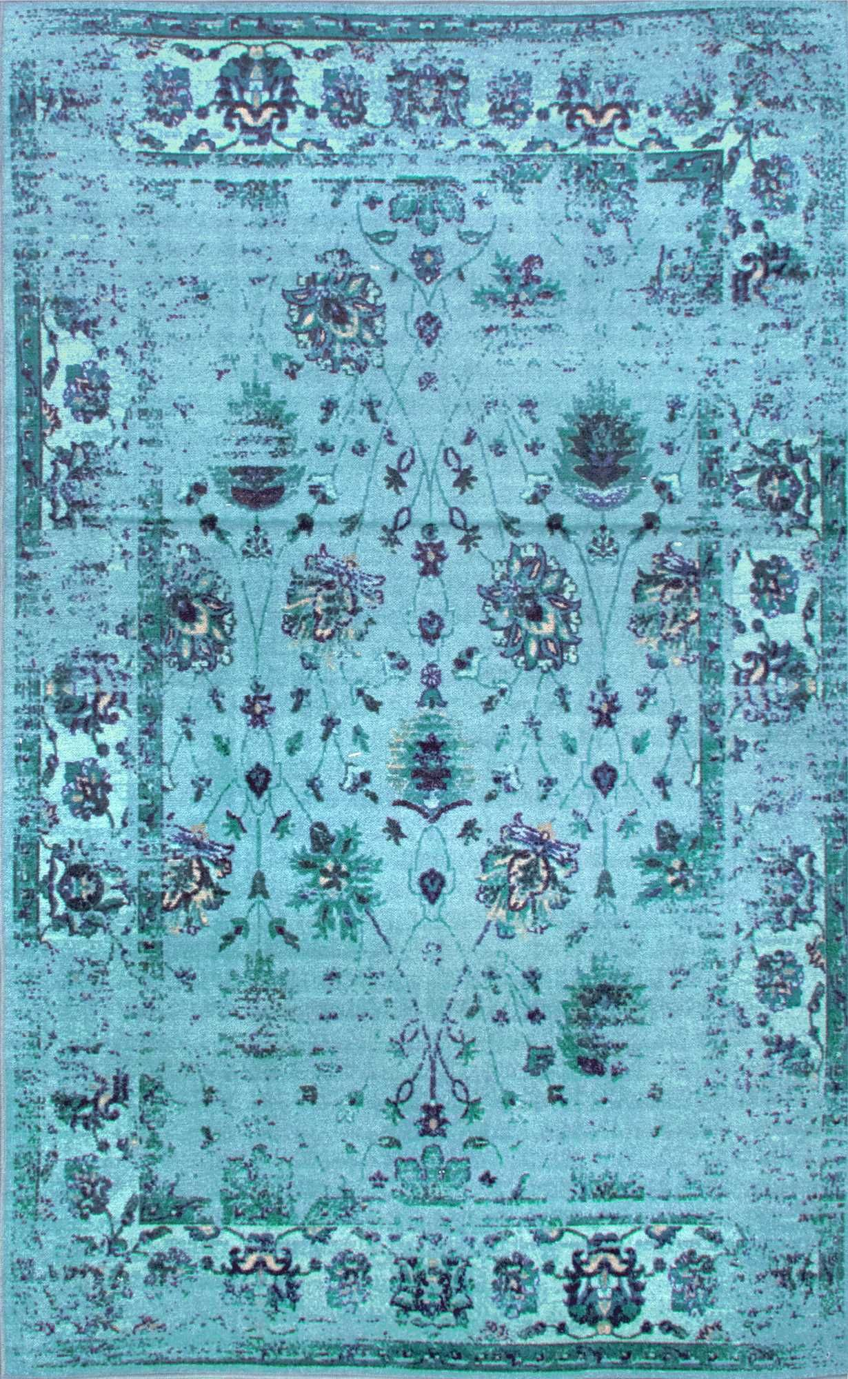 Ashlina Printed Persian Overdyed Vintage Rug | Decorations ...