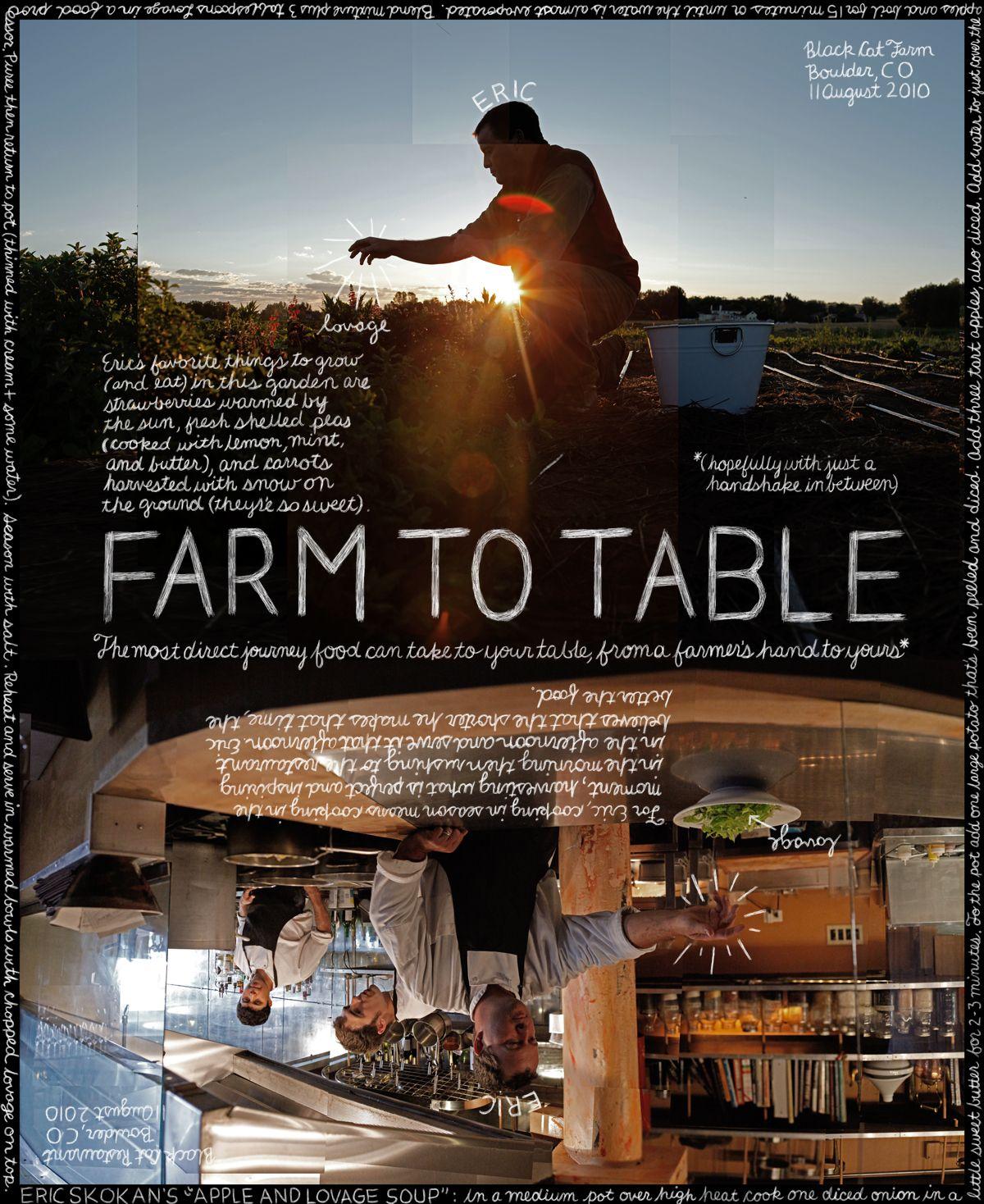 "23. ""Farm to Table"". Eric Skokan, Black Cat Farm. Boulder"