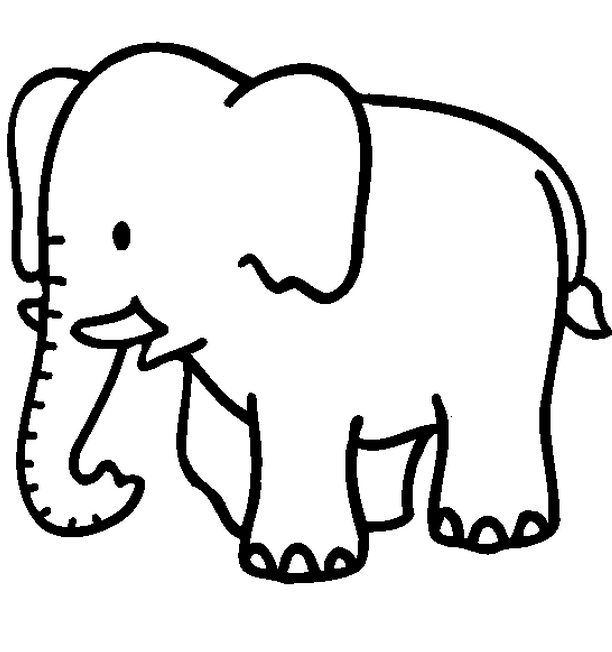 jungle animal coloring pages - Simple Color Pages