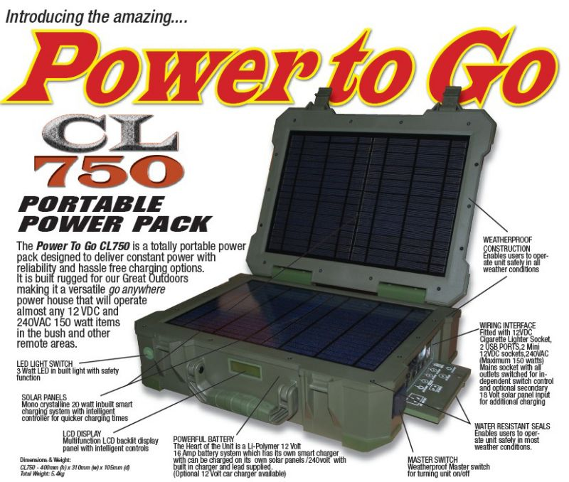 Portable Power Pack Cl 750 Camperled Australia Camping Led Light Products Portable Solar Power Camping Led Light Solar Power