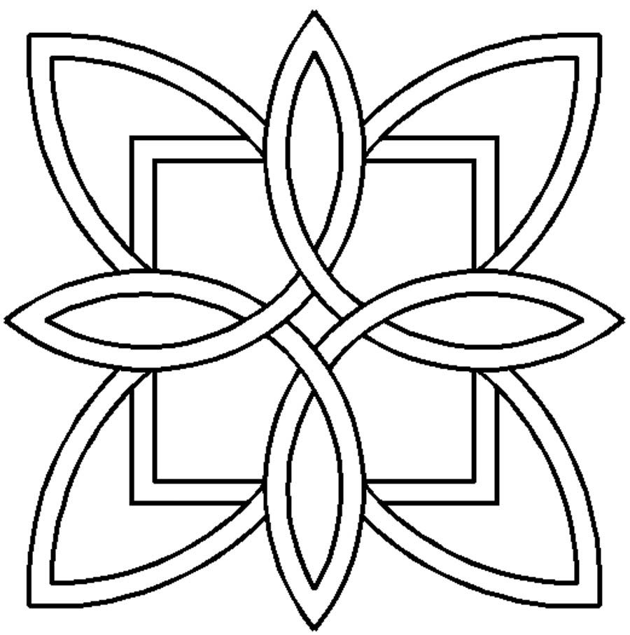 Coloring pages quilt squares - Quilt Stencil Celtic Design By Siedlecki Barbara 7in