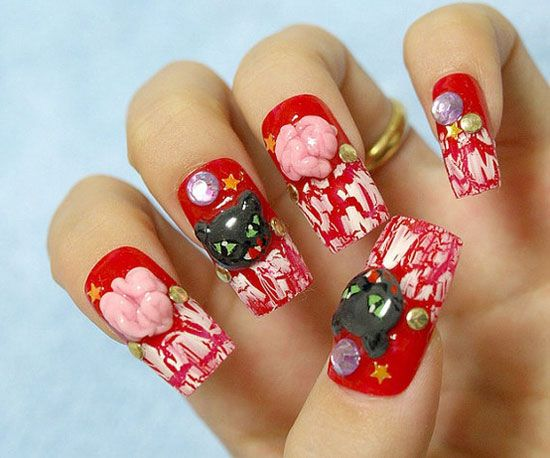 25 best scary halloween nail art designs ideas - Nail Design Ideas 2012