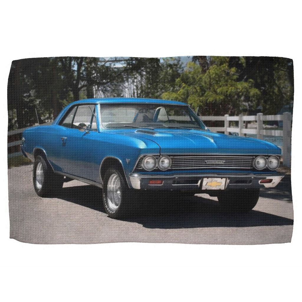 1966 Chevy Chevelle Malibu Chevrolet Muscle Car Kitchen Towel | Zazzle.com