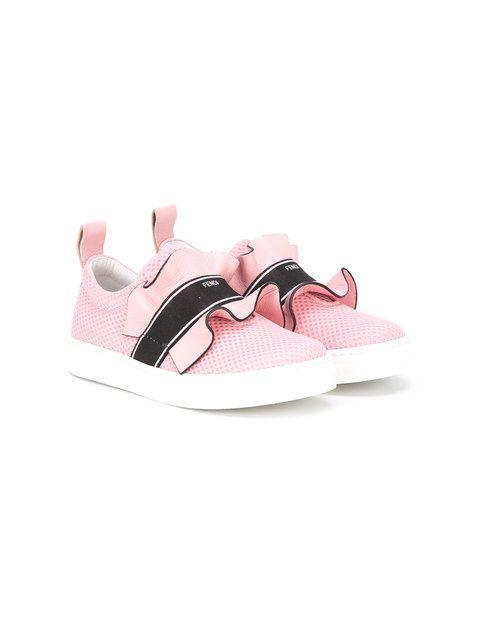 957fe9d4 Shop Fendi Kids ruffled sneakers.   amari`yhea feet stay fly   Kids ...