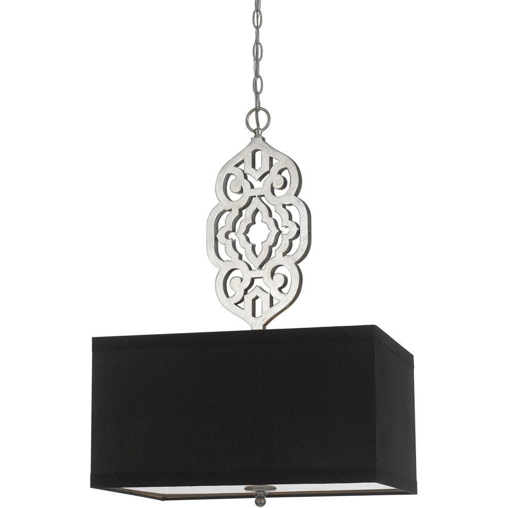 Af lighting grill collection light silver foil pendant with black