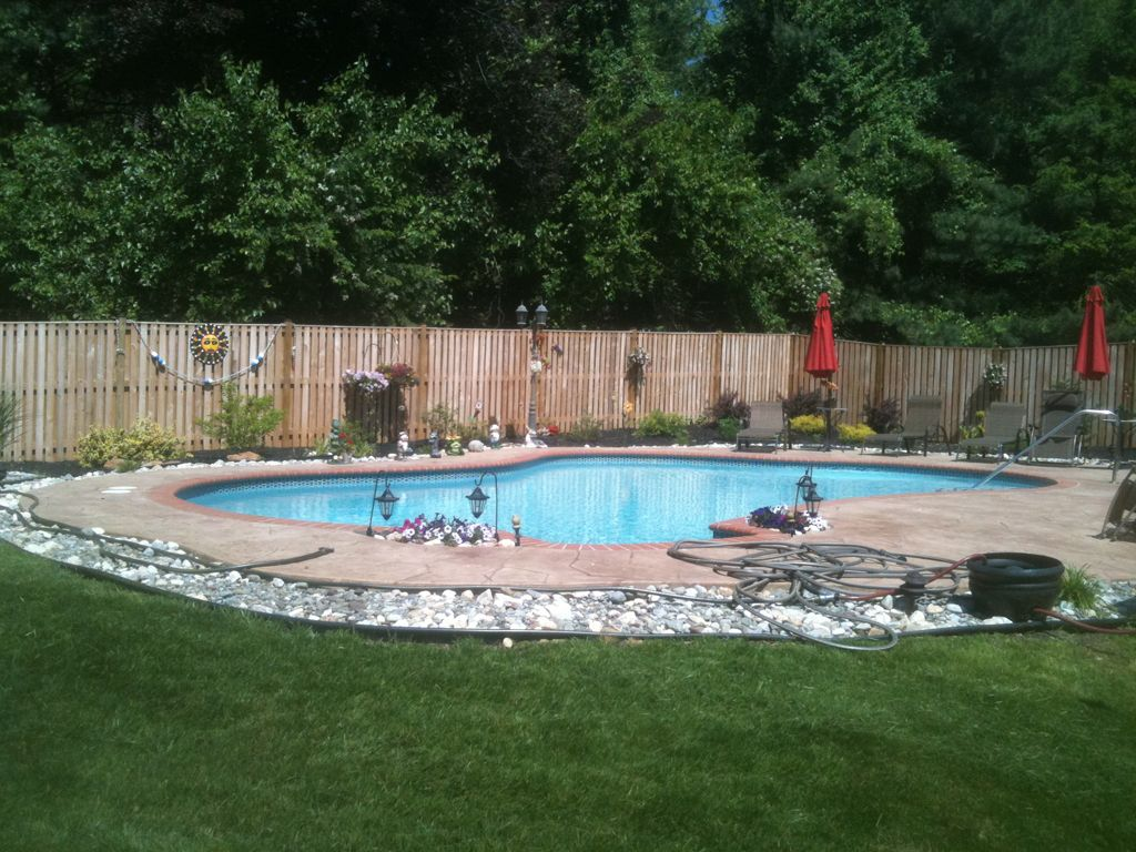 rock borders around pool google search outdoor landscape ideas