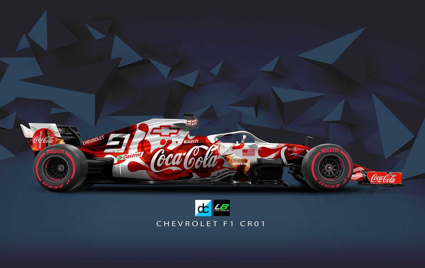 Chevrolet Racing F1 Concept Livery Late Braking On Behance Racing Nascar Race Cars Concept Cars