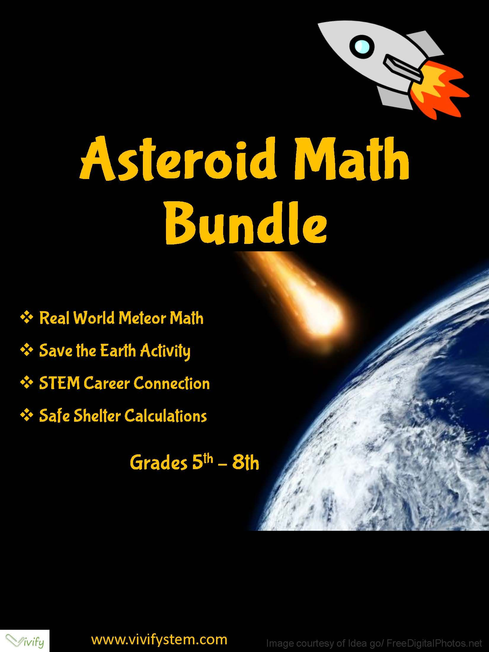 Space Math Activity Bundle Real World Math Fractions