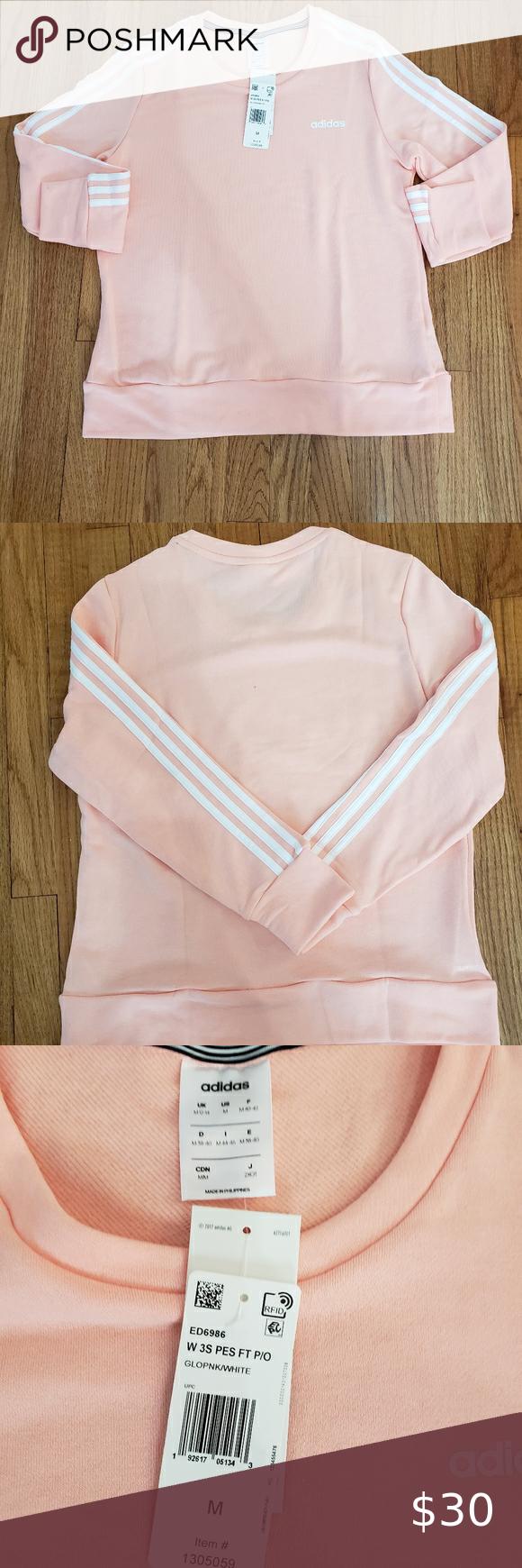 Adidas 3 Stripes Crewneck Sweatshirt Size M Crew Neck Sweatshirt Branded Sweatshirts Sweatshirts [ 1740 x 580 Pixel ]