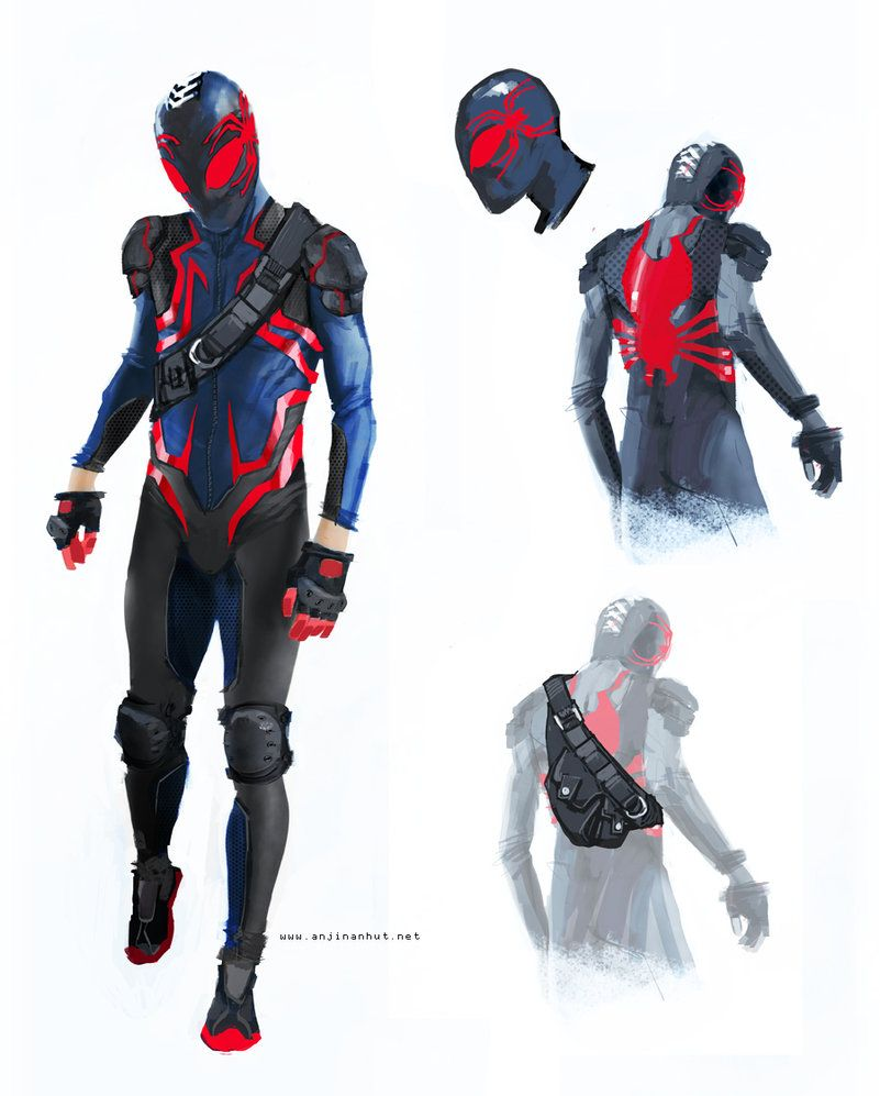 Spider-Man Redesign - Very cool idea about having the spider logo on the mask making up the eyeholes..!