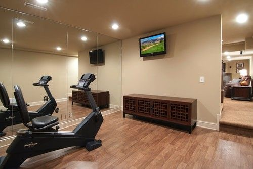 Fitness room traditional home gym minneapolis schrader
