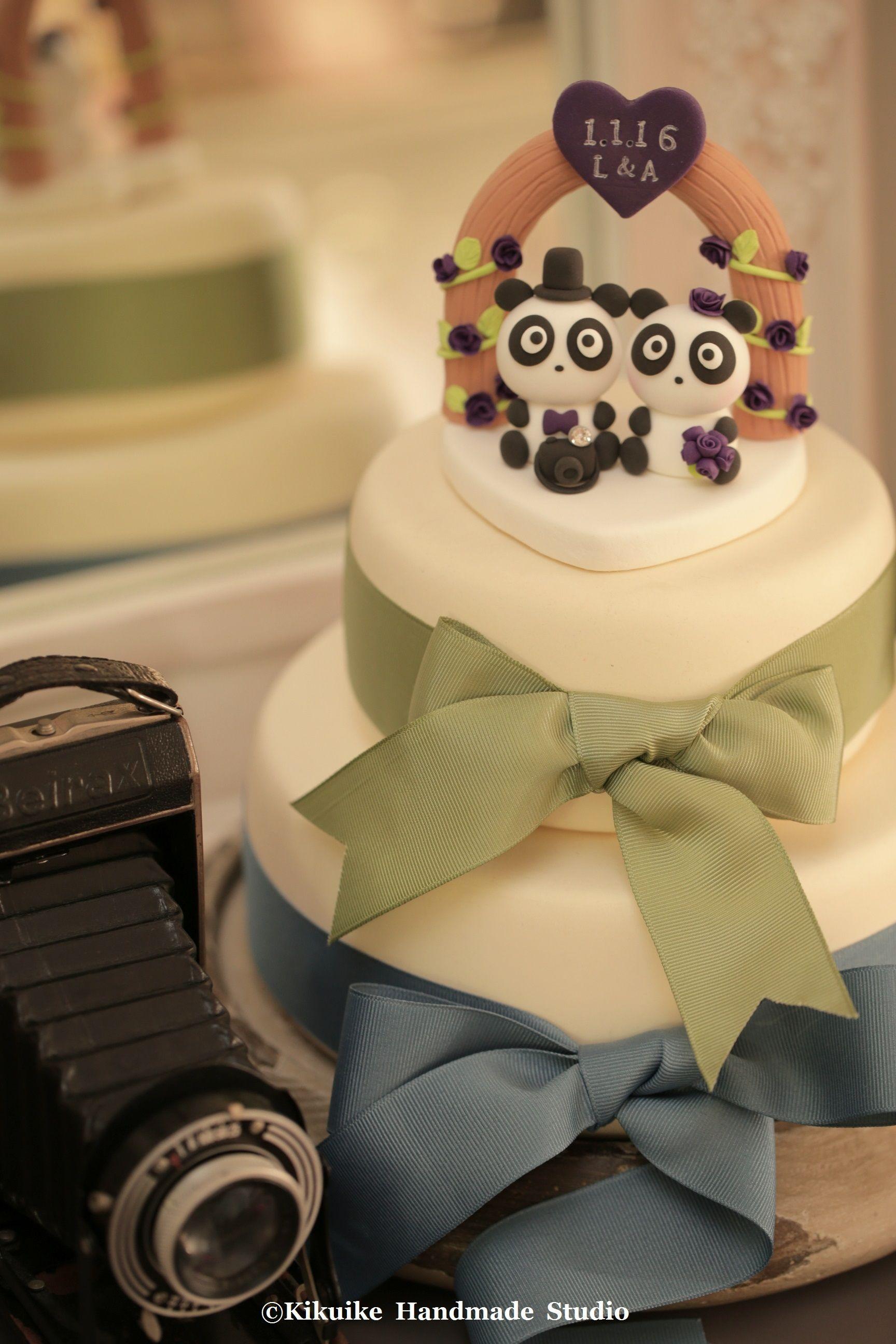Panda Wedding Cake Topper---k955   Panda, Wedding cake and Cake
