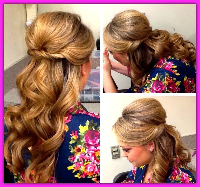 resultado de imagen para vestidos y peinados con pelo largo de fiesta - Peinados Largos