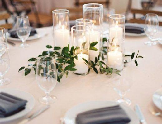 centros de mesa sencillos para boda Wedding decor \ ideas