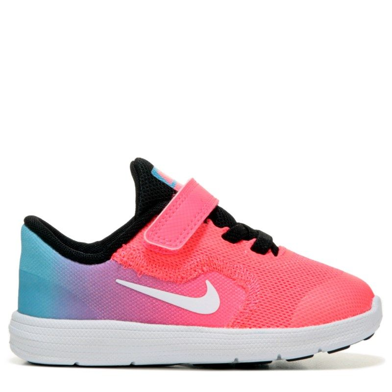 f3f850702a4 Nike Kids  Revolution 3 Running Shoe Toddler Shoes (Pink Blue Fade)
