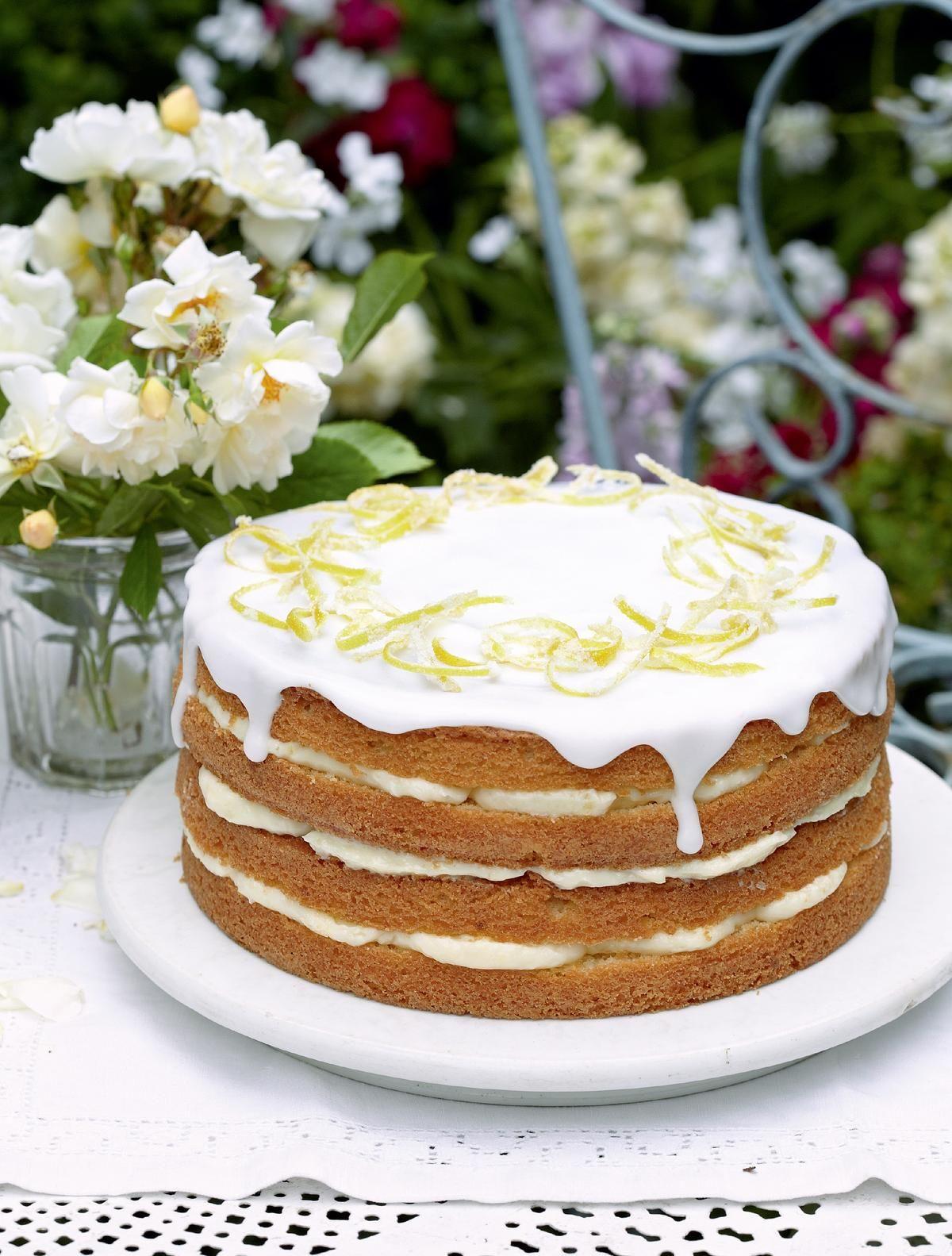 Whole Lemon Cake With Lemon Cheesecake Icing Recipe Cake