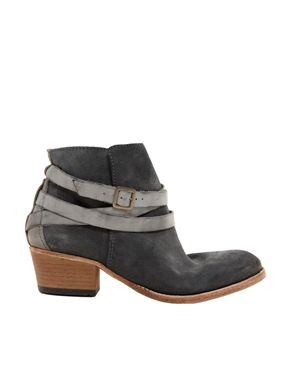 Image 1 of H by Hudson Horrigan Slate Strap Ankle Boots
