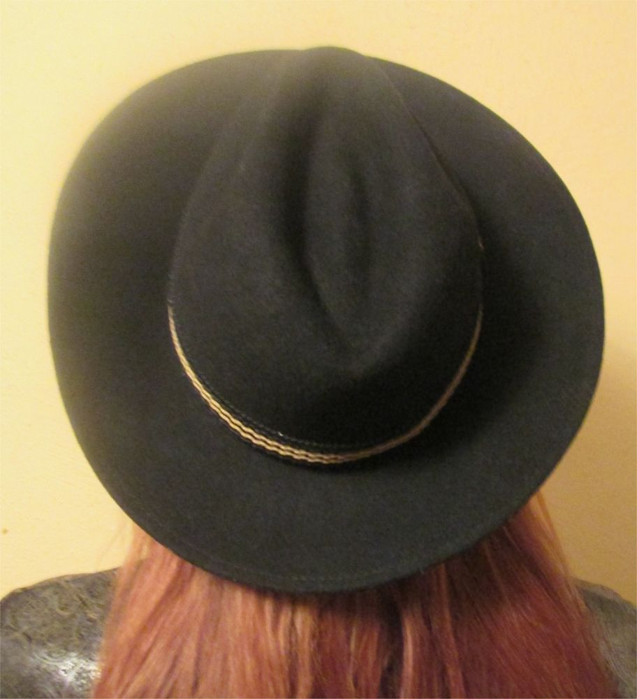 c3bda635428a7 Sombreros Shaman Hard to Find Handmade Ecuadorian Wool Black Fedora Hat  NICE  SombrerosShaman  Fedora