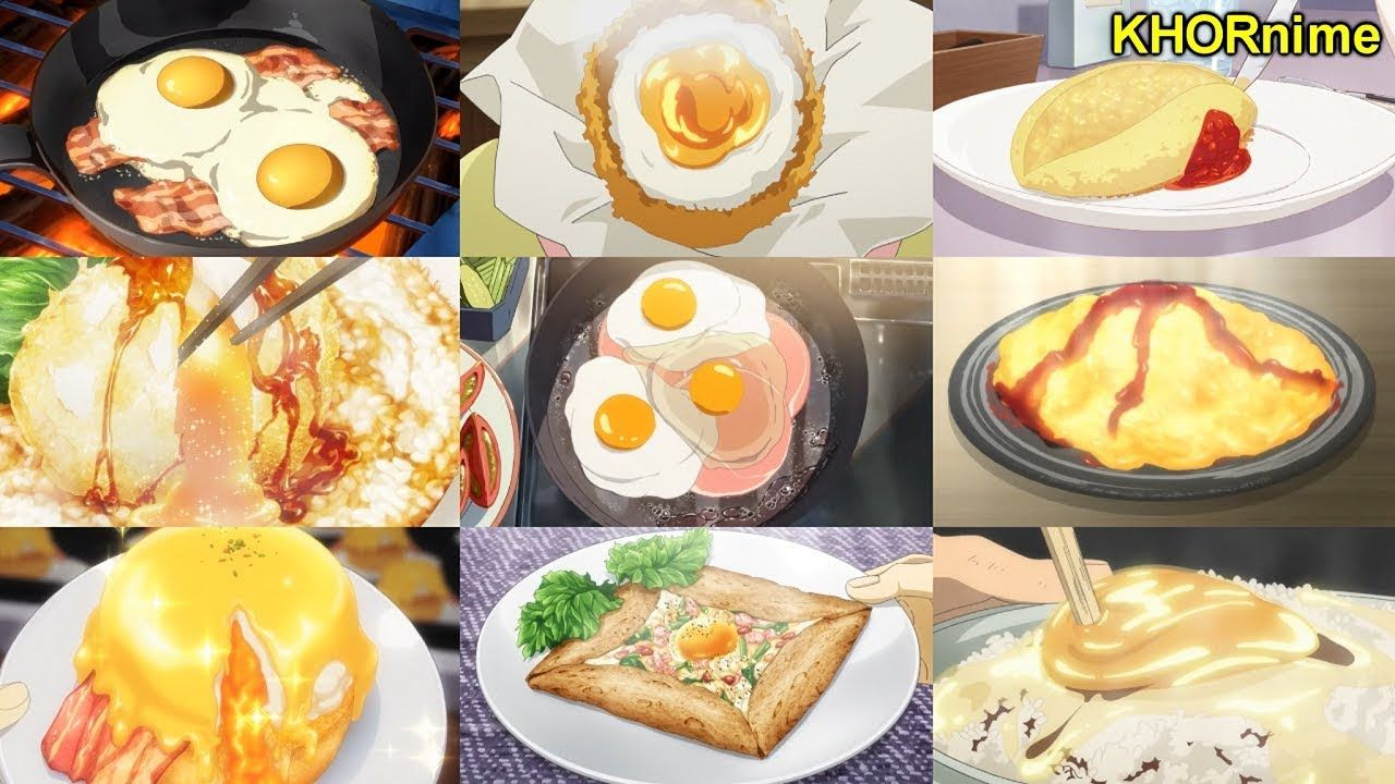 Mouthwatering Eggs In Anime Delicious Anime Food Compilation