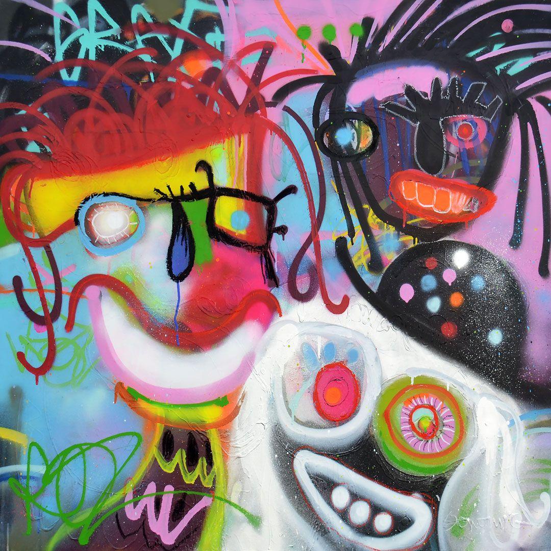 Baskets - 100x100 cm - Impression sur toile textile - Art mural - Artiste e3svN59q7X