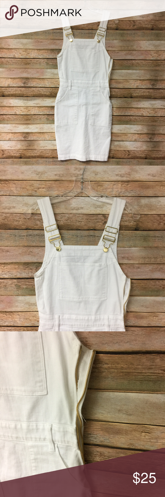 Frame womens white overall dress size xs defect my posh picks
