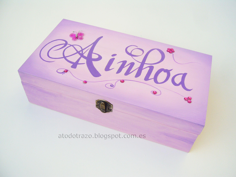 Caja de madera pintada a mano personalizada cajas - Cajas de madera decoradas ...