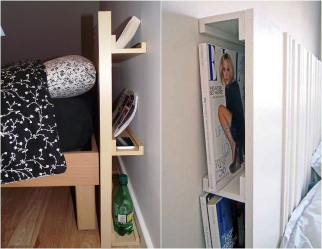 Ikea Bilderleiste Ribba Diy Idee Hinter Bett Kopfteil Versteckt Headboards For Beds Diy Storage Bed Headboard Storage