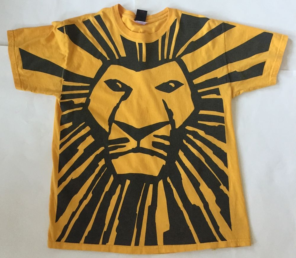 the lion king broadway musical full image t shirt l yellow