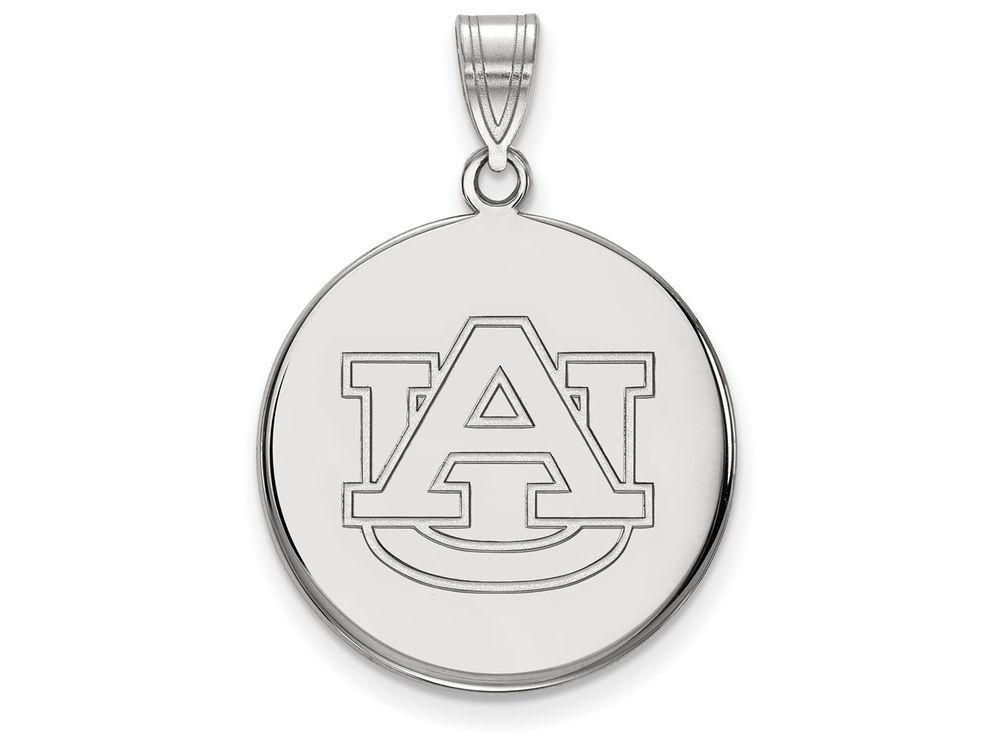 LogoArt Sterling Silver Auburn University Large Disc ...