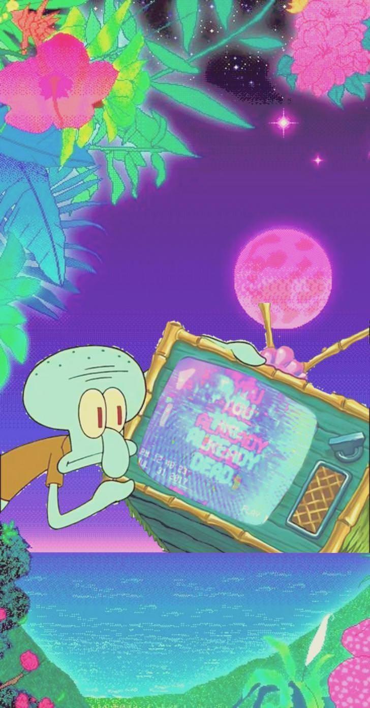 Download Aesthetic Spongebob Meme Wallpaper Png Gif Base In 2020 Aesthetic Iphone Wallpaper Trippy Wallpaper Spongebob Wallpaper
